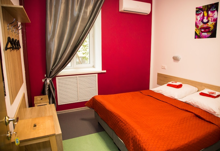 Hostels RUS - Chistye Prudy, Moskwa, Pokój dwuosobowy typu Economy, Pokój