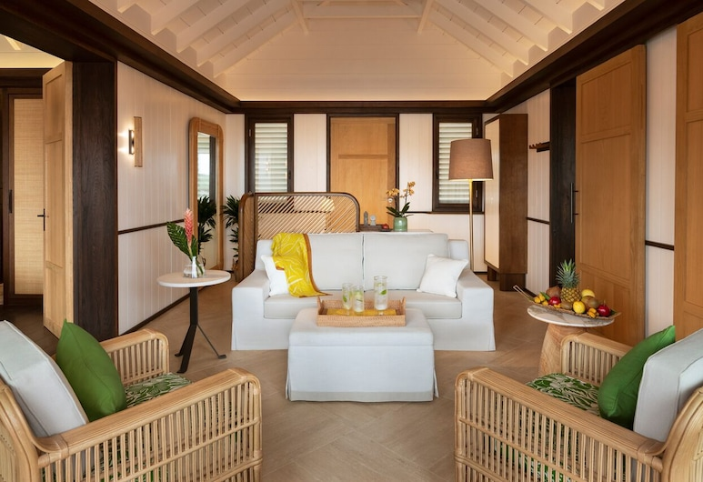 Hotel Barrière Le Carl Gustaf St Barth, St. Barthelemy, Double Luxury Bungalow Suite Terrace Sea View, Living Room