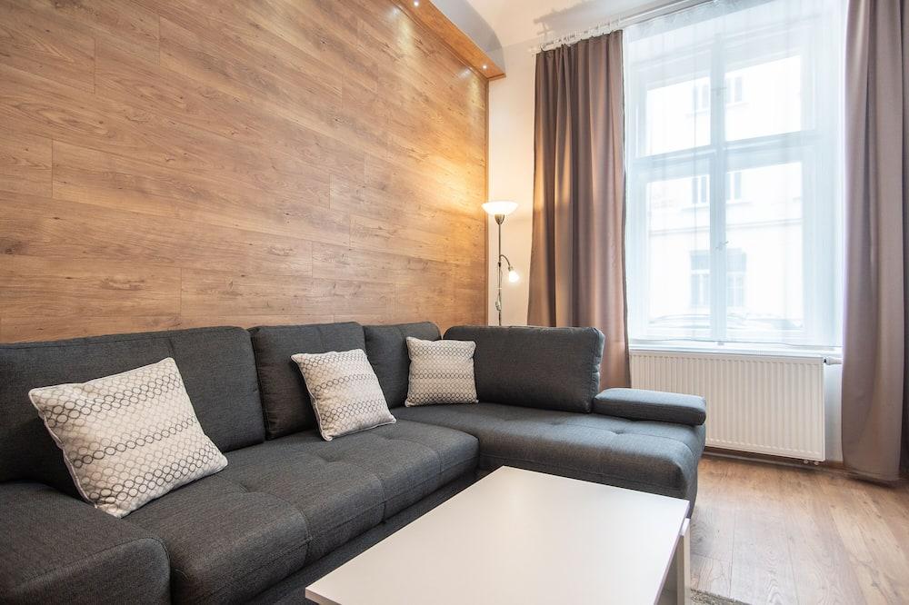 Departamento, 1 cama King size (Podlipného 16 #1) - Sala de estar