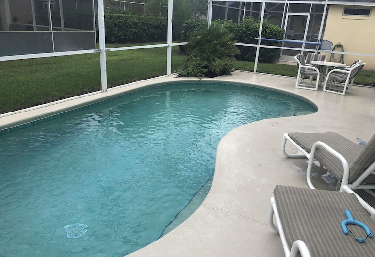 Cozy 3 Bed Home with Private Pool in Disney Area WN156BL, Davenport, Pool