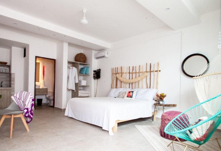 Dewl Studios & Residences - The Kahlo , Playa del Carmen, Lägenhet Signature - 1 kingsize-säng, Gästrum