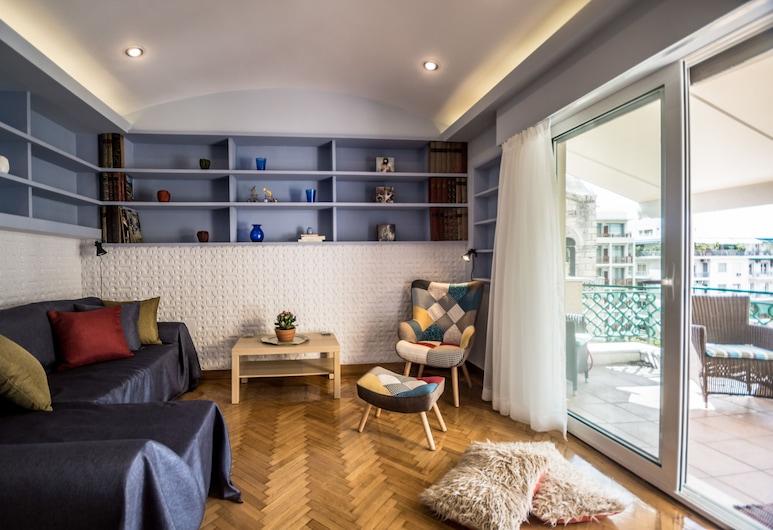City Center Luxury Apartment, Atenas, Apartamento superluxo, 1 quarto, Área de estar