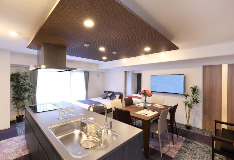 레지던스 호텔 하카타 19, 후쿠오카, 슈피리어 더블룸 (6), 거실