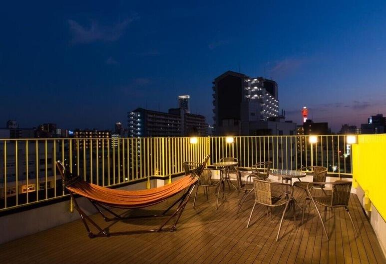 出門玩青年旅舍, 大阪, 尊榮雙床房 (A), 陽台