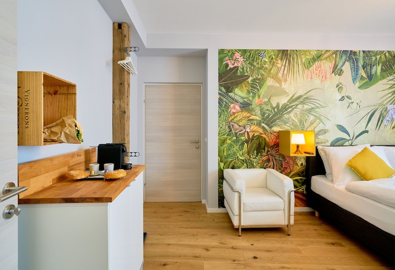 Leuhusen Center Apartments Vienna, Viena, Suíte estúdio superior (Olive), Quarto
