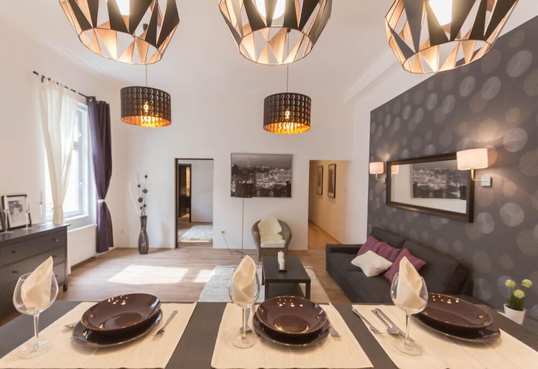 Luxury Apartment by Hi5 -Városház Suite, Budapeszt, Apartament, 1 sypialnia (66), Pokój