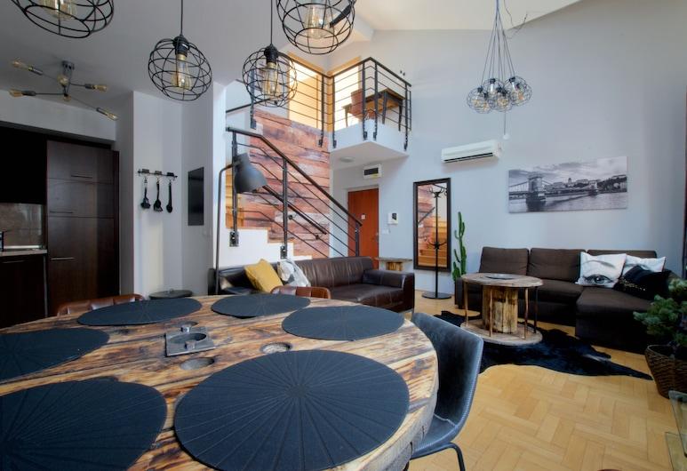Luxury Apartment by Hi5 - Gozsu Suite, Budapeszt, Apartament typu Suite, 2 sypialnie, Powierzchnia mieszkalna