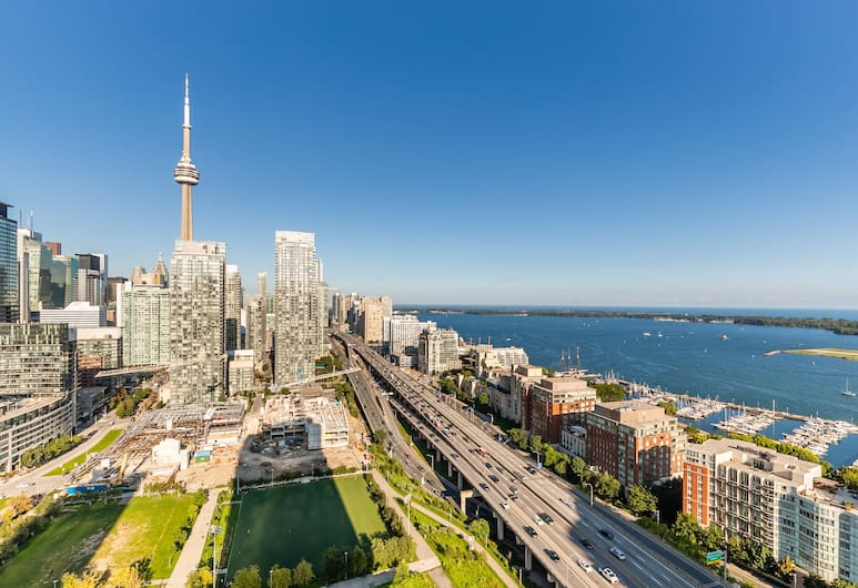 Simply Comfort Stunning Downtown Condos, Toronto, Design Apartment, Kitchen, Partial Lake View, City View