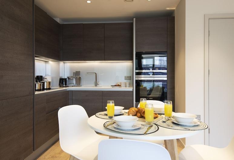 國王十字車站 - 聖潘克拉斯驚人 1 床公寓酒店, 倫敦, 奢華公寓, 1 間臥室, 非吸煙房, 客廳