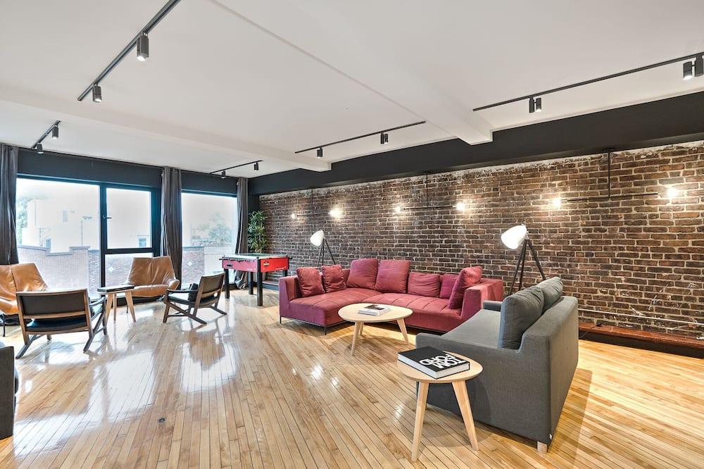 Пентхаус «люкс», 1 спальня (with Loft Plaza 300) - Зона гостиной