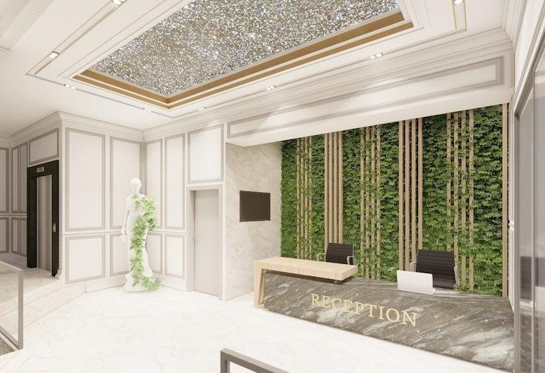 Grand Boss Suit Hotel, เมอร์ซิน, ฝ่ายต้อนรับ