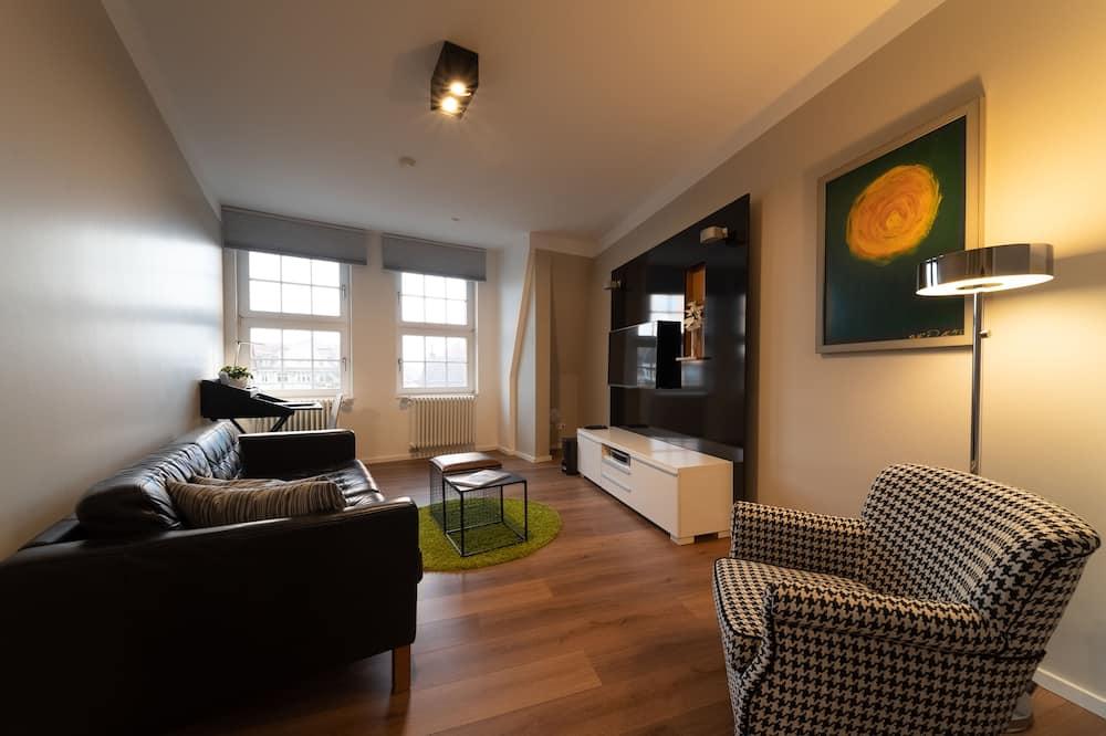 Attico panoramico, 1 camera da letto (Infinity) - Area soggiorno