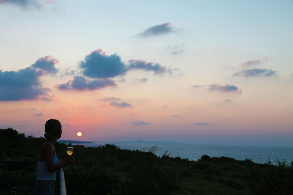Rom (tramonto) - Utsikt mot strand/hav