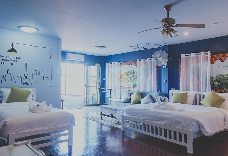 Chill Vibe Hostel, Mae Rim, Standard Family Room, Vaizdas į miestą