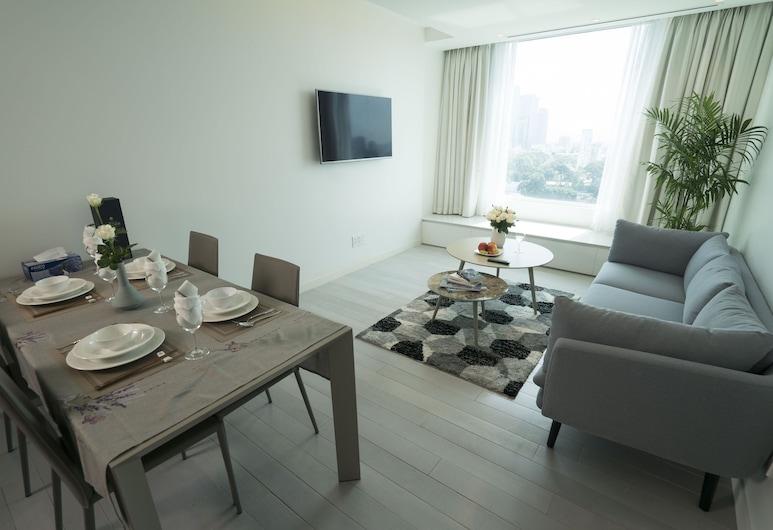 Aparthotel Mihoki, Ho Chi Minh-Stad, Grand appartement, 2 slaapkamers, en-suite badkamer, Uitzicht op de stad, Kamer