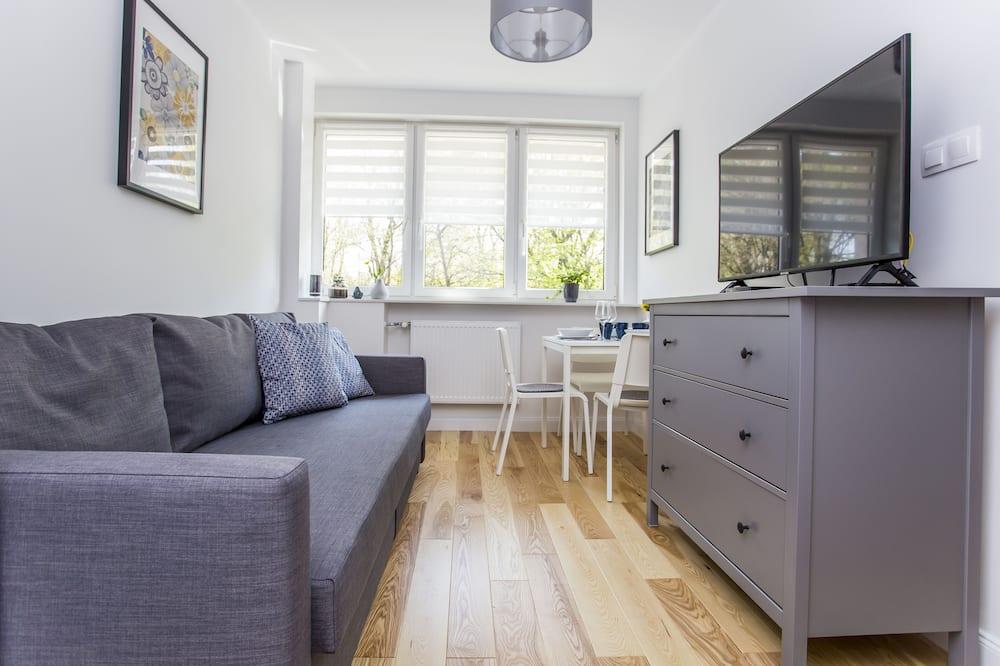 Comfort Apartment, 1 Bedroom, Kitchenette, Garden View - Living Room