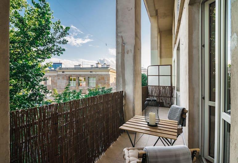 Plac Zbawiciela Comfortable Apartment, Varšava, Dzīvokļnumurs ar papildu ērtībām, Balkons