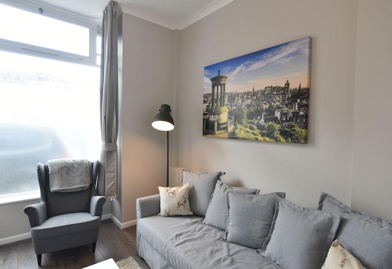 First Pleasance Luxury Apartment, Edinburgh, Luxe appartement, Woonkamer