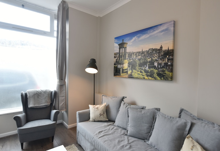 First Pleasance Luxury Apartment, Edinburgh, Luxury Apart Daire, Oturma Odası