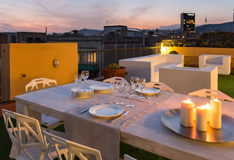 Rambla Cat 99 - Ático con terraza en Rambla Catalunya, Barcelona, Tempat Makan Luar Ruangan