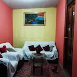 Trivietis kambarys su pagrindiniais patogumais - Svetainės zona