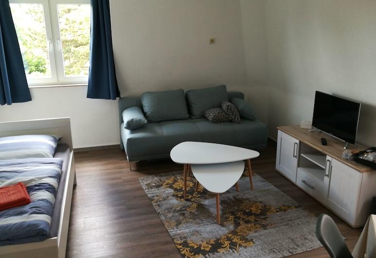 210P Gemütliches Apartment in Dortmund, Dortmundas, Aukštesnės klasės apartamentai, Svetainės zona