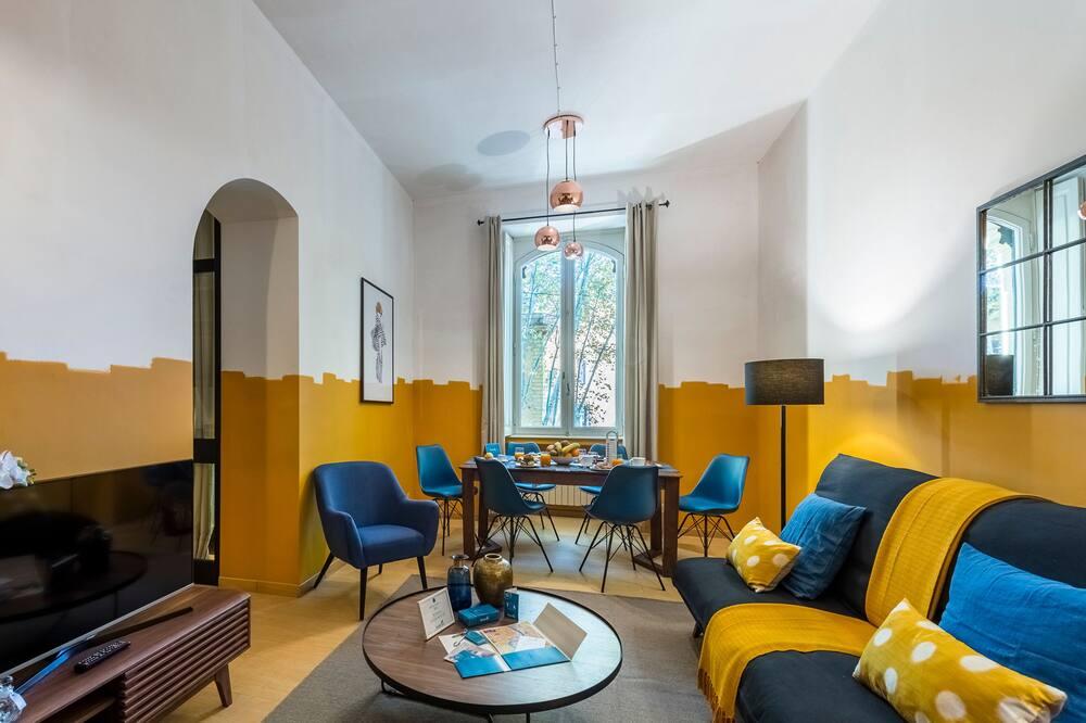 Comfort appartement, 3 slaapkamers (Viale Trastevere 40) - Woonkamer