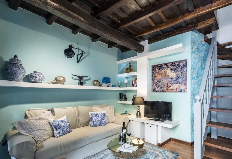 Sweet Inn - Trastevere - Cipresso, Rome, City Apartment, 1 Bedroom (Via del Cipresso, 1), Living Area