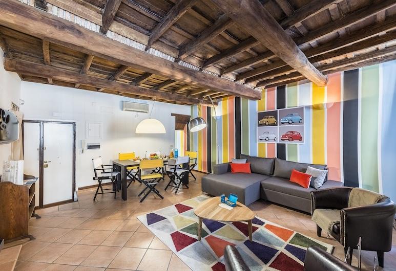 Sweet Inn - Monti - Urbana, Rom, Lägenhet City - 2 sovrum (Via Urbana 125), Vardagsrum