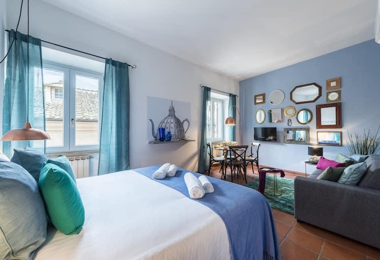 Sweet Inn - Compo de Fiori - Specchi, Rim, Comfort studio apartman (Via degli Specchi 13), Dnevni boravak