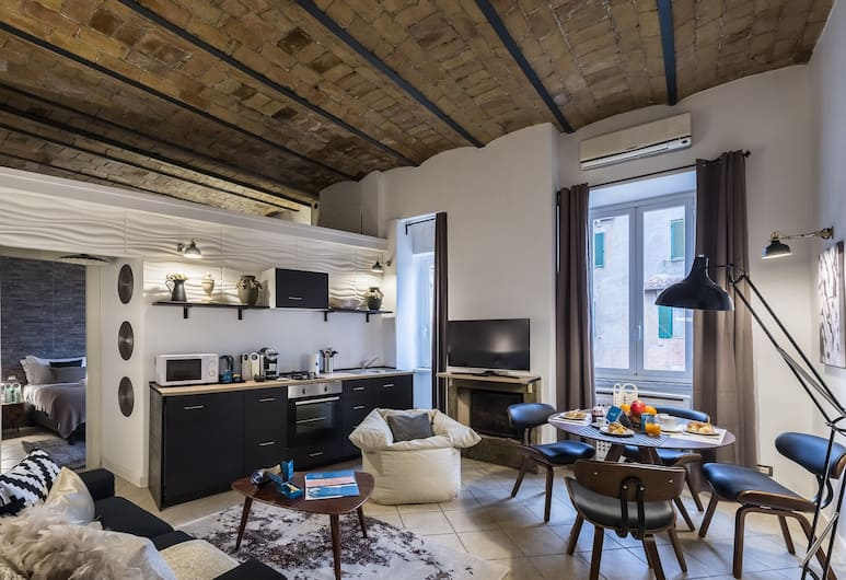 스위트 인 - 바티칸 - 카라치올로, 로마, 시티 아파트, 침실 1개 (Via Caracciolo, 6), 거실 공간
