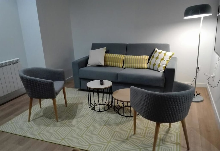 Lux Apartamentos Rosalia, Santiago de Compostela, Apartment, 2 Bedrooms, Living Room