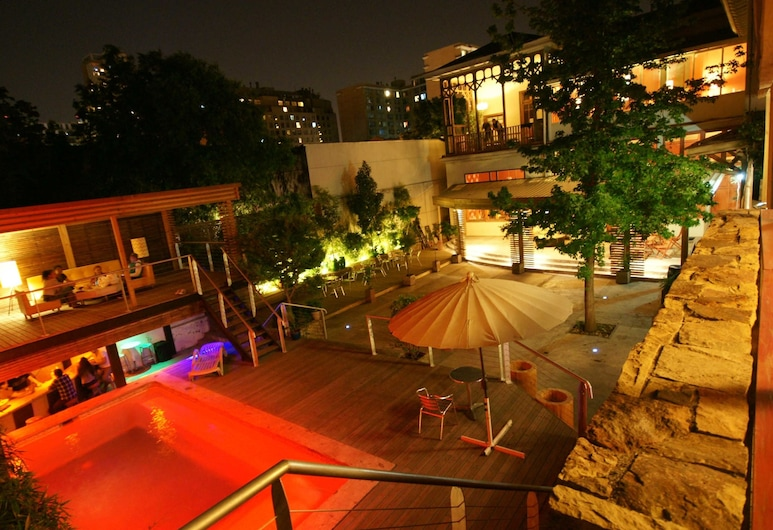 Happy House Hostel, Santiago, Vonkajší bazén