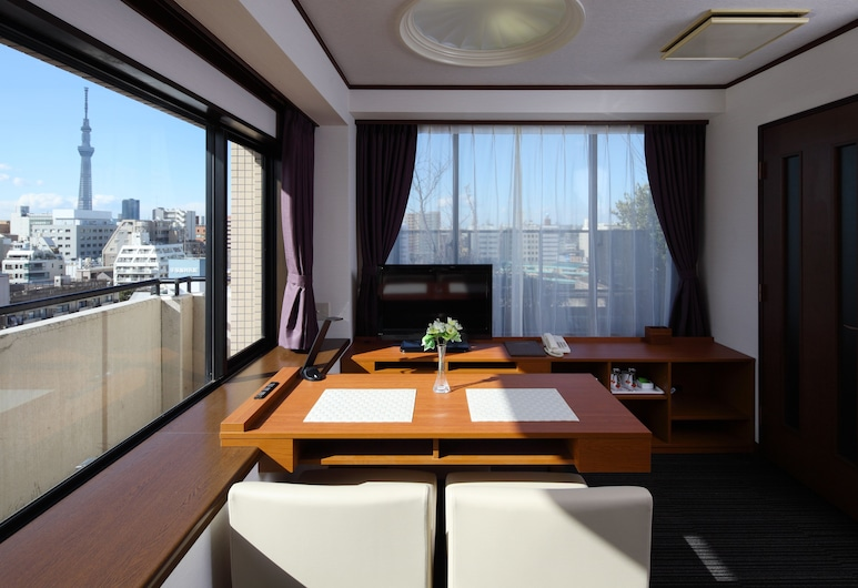 Hotel MyStays Kameido, Tokyo, Deluxe Twin Sky Tree View Smoking, Guest Room