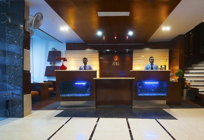 Hotel Aura, Нью-Дели, Стойка регистрации