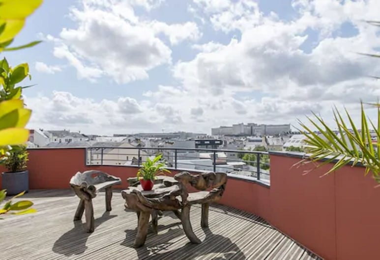 Hotel Belfort, Nantes, Chambre Prestige Terrasse, Terrasse/Patio