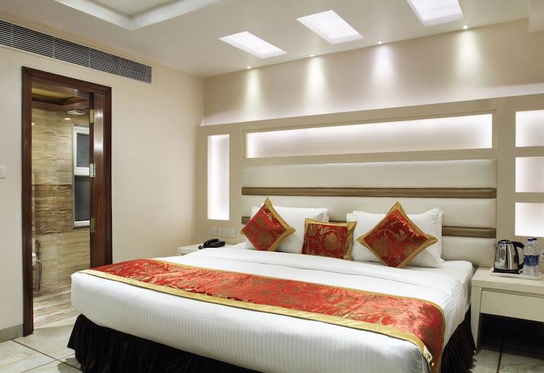 Hotel Hari Piorko, New Delhi, Superior Double Room, Bilik Tamu