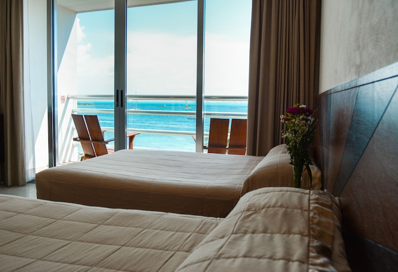 Hotel Bahia Chac Chi - Adults Only, Isla Mujeres, Deluxe Double Room, 2 Double Beds, Bay View, Beach/Ocean View