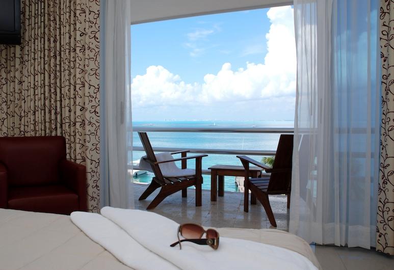 Hotel Bahia Chac Chi - Adults Only, Isla Mujeres, Habitación doble Deluxe, 2 camas dobles, vista a la bahía, Habitación
