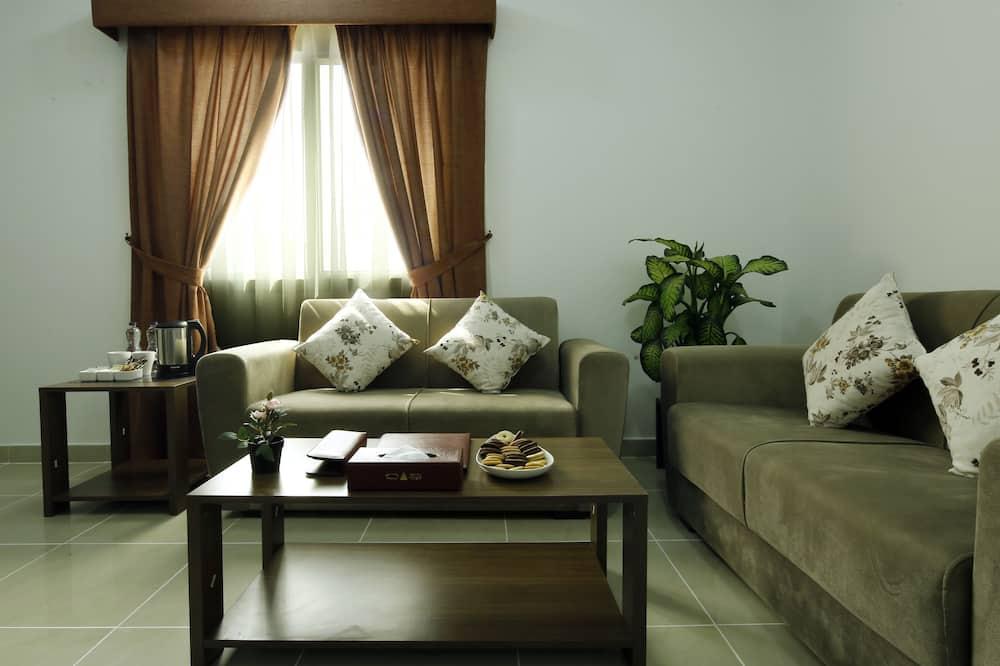 Darījumklases dzīvokļnumurs, 1 divguļamā gulta - Dzīvojamā zona