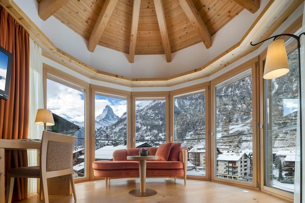 Chambre Double Deluxe, 2 lits une place, vue montagne (Matterhorn) - Chambre