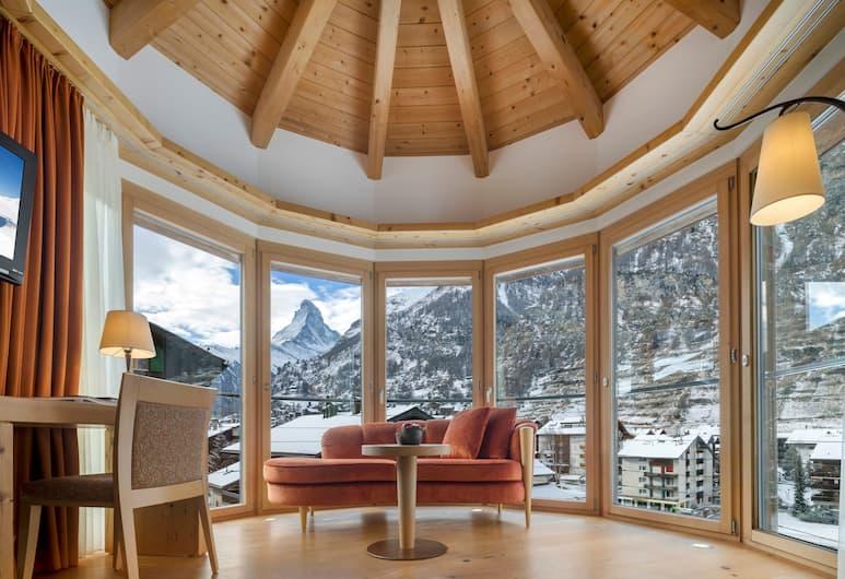 Phoenix, Zermatt, Deluxe-dobbeltværelse - 2 enkeltsenge - bjergudsigt (Matterhorn), Værelse