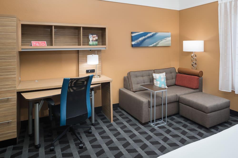 Studijas tipa numurs, 1 divguļamā karaļa gulta, nesmēķētājiem - Dzīvojamā zona