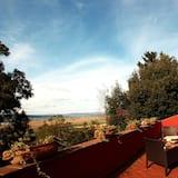 Exclusieve suite, 1 kingsize bed, terras, Uitzicht op zee - Balkon