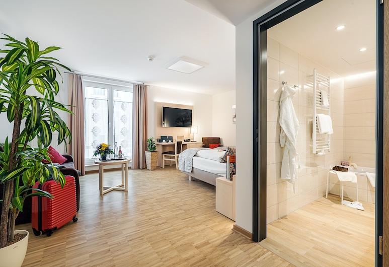 Hotel Rappen Rothenburg ob der Tauber, Rothenburg ob der Tauber, Grand Double Room, Living Area