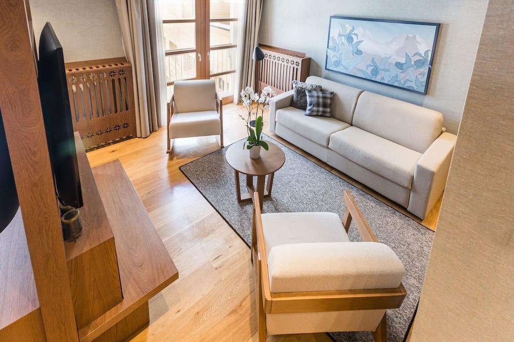 Suite, 1 Bedroom, Mountain View - Living Area