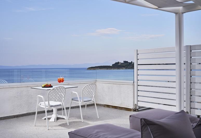 Antigoni Beach Resort, Sithonia, Loft, Vista Mar, Terraço/Pátio Interior