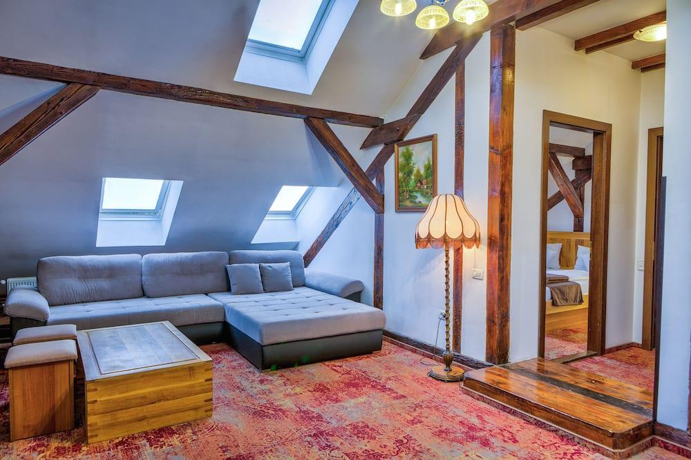 Люкс, 1 спальня - Зона гостиной