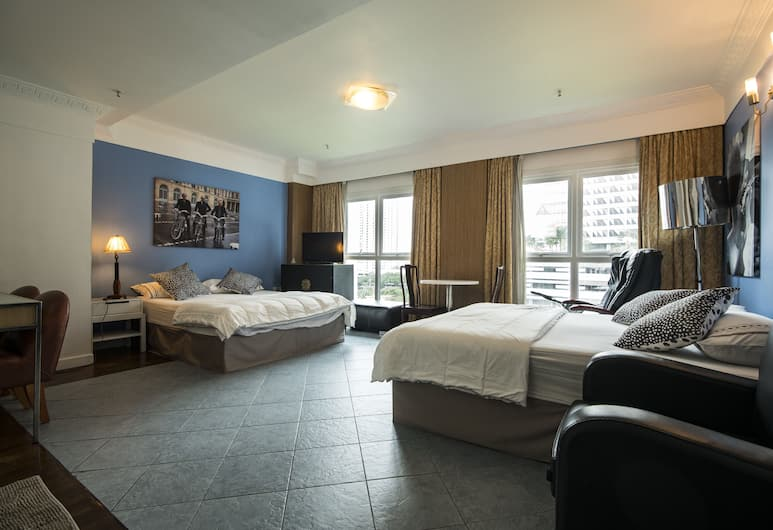 The Claremont Hotel, Singapore, Family Room, 2 Queen Beds, Guest Room