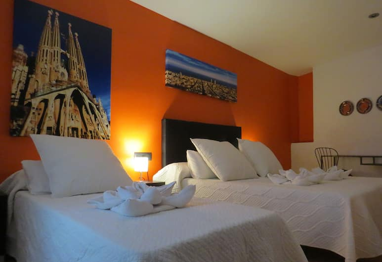 Barcelona City Centre, Barcelone, Chambre Double (with extra bed), Chambre